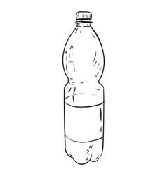 Sketch of plastic bottle vector