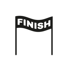 The finish icon Finish symbol Flat vector