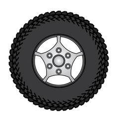 tires and wheels vector image