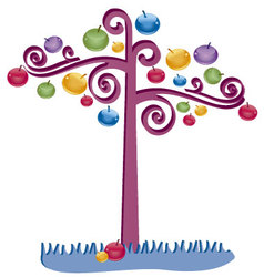 tree with many colors vector image