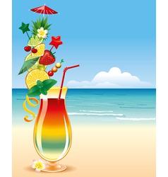 tropical cocktai vector image