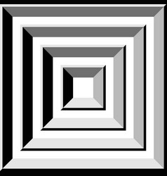 Tunnel gray square abstract shape vector