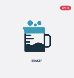 two color beaker icon from science concept vector image