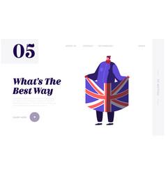 united kingdom politics and brexit concept for vector image