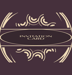 vintage background of invitation card vector image