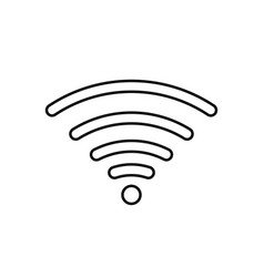 wifi internet sign icon in flat style wi-fi vector image
