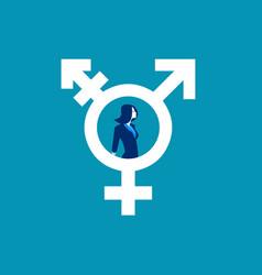 Woman in transgender symbol concept human vector