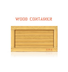Wood simple container with planks vector