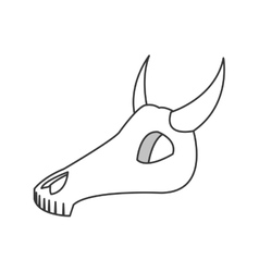 bull or cow skull icon vector image