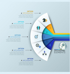 creative infographic design layout 5 connected vector image vector image