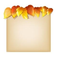 Autumn Design Template vector image vector image