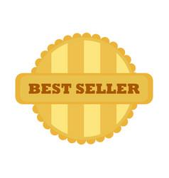 best seller gold vintage badge emblem graphic vector image