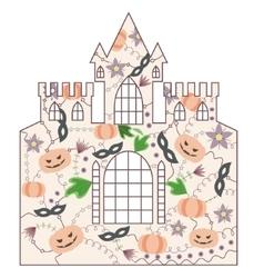 Halloween castle vintage vector image