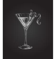 Hand Drawn Sketch Cosmopolitan Cocktail Drinks vector image vector image