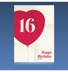Happy birthday poster vector image vector image