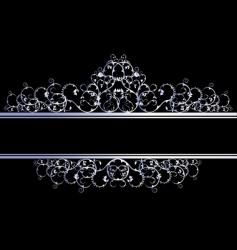 silver decorative banner vector image vector image