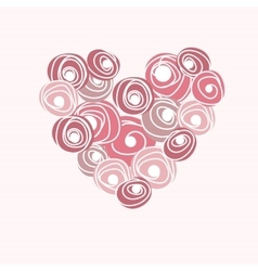 Wedding card with heart from roses Cartoon vector image