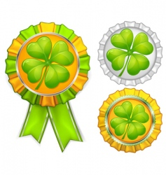 award ribbons with clover vector image