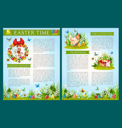 easter egg hunt celebration brochure template vector image vector image