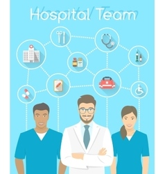Medical clinic staff doctor and nurses vector image