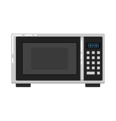Microwave oven isolated on white background vector image