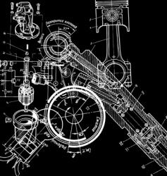 technical drawingxa vector image