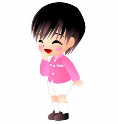 Thai boy vector image vector image