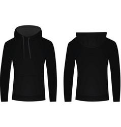 Black hoodie vector