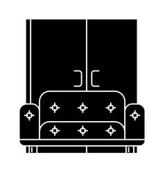 living room sofa wardrobe icon vector image vector image