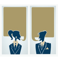 office man and woman chatting people vector image vector image
