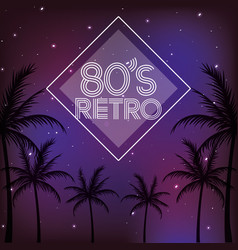80s retro style word vector