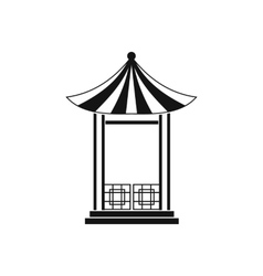 A japanese lotus pavilion icon simple style vector image