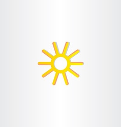 Abstract yellow stylized sun icon vector