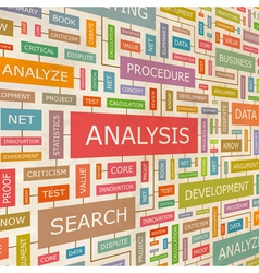 ANALYSIS vector image