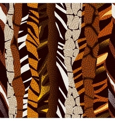Animal strikes pattern in brown colors vector image
