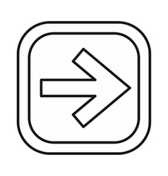 Arrow right on a button icon outline style vector image