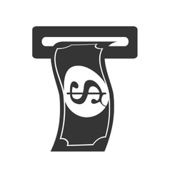 Bill money cash withdraw vector