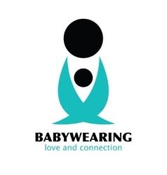 black and blue babywearing symbol vector image