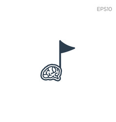 Brain music note logo icon or symbol isolated vector