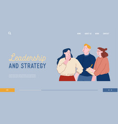 Brainstorm website landing page business people vector