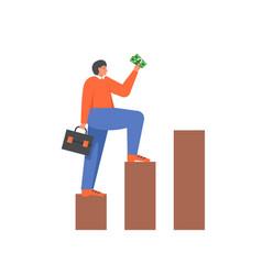 business success concept flat style design vector image