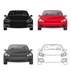car single icon in cartoonist style vector image