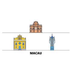china macau flat landmarks vector image