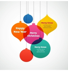 Christmas ornaments - colorful background vector image