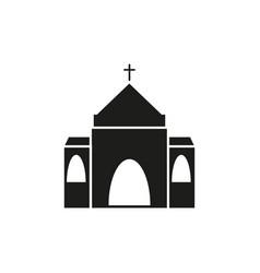 church of black icon vector image