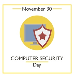 Computer security day vector