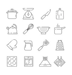 cooking items icon kitchen appliances scoop pan vector image
