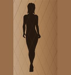 Fashion model walking vector