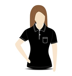 Female shirt template on mannequin vector