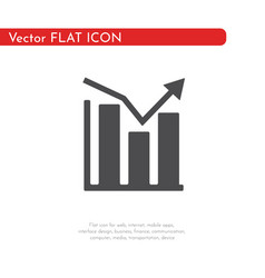 flat icon graphic for web business finance and vector image
